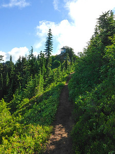 Evergreen Mountain Lookout from the trail